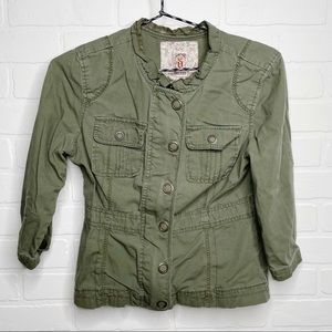 Decree Jacket olive military-style size small S